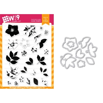 Wplus9 HELLEBORE BUILDER Clear Stamp And Die Combo WPLUS422