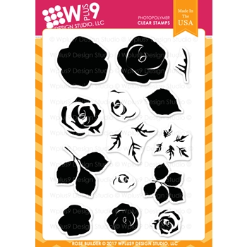 Wplus9 ROSE BUILDER Clear Stamps CL-WP9ROBU
