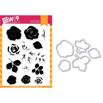 Wplus9 ROSE BUILDER Clear Stamp And Die Combo WPLUS428