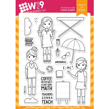 Wplus9 THE CREW SCHOOL DAYS Clear Stamps CL-WP9TCSD