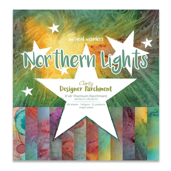 Claritystamp NORTHERN LIGHTS 8x8 Natural Wonders Parchment Paper ACCCA3052588