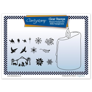 Claritystamp CANDLE OUTLINE Clear Stamps and Mask STACH10550A5