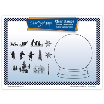 Claritystamp SNOW GLOBE OUTLINE Clear Stamps and Mask STACH10548A5