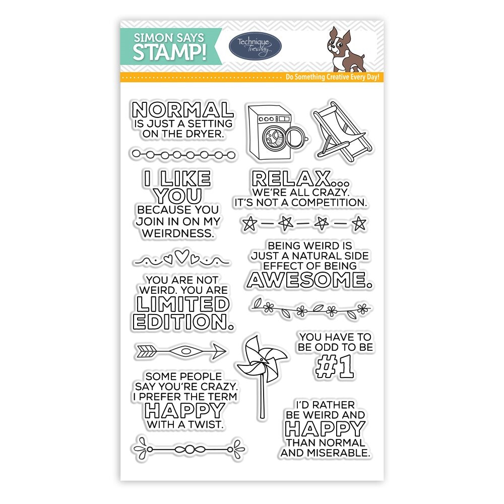 Technique Tuesday SASSY YOU'RE NOT NORMAL Clear Stamps SSS101789 Stamptember Exclusive zoom image