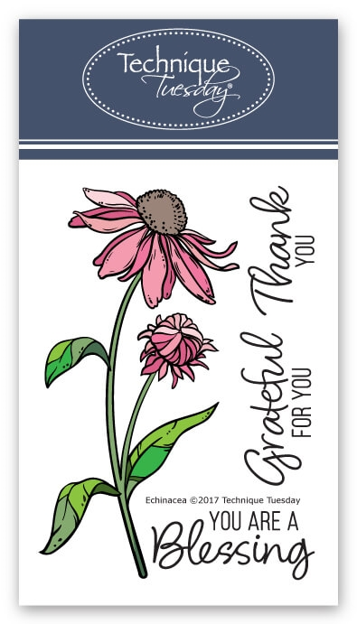 Technique Tuesday ECHINACEA Clear Stamps Greenhouse Society 02549 zoom image