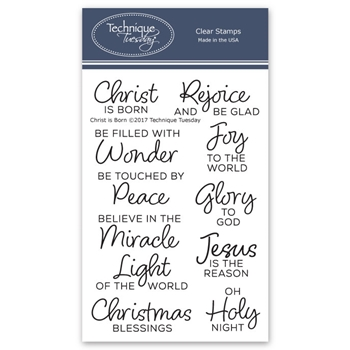 Technique Tuesday CHRIST IS BORN Clear Stamps 02567