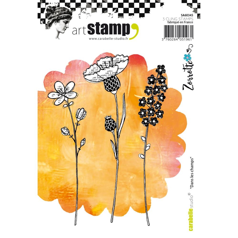 Carabelle Studio DANS LES CHAMPS BY ZORROTTE Cling Stamp SA60345 zoom image