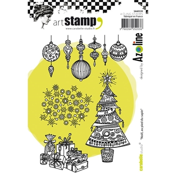 Carabelle Studio NOEL AU PIED DU SAPIN BY AZOLINE Cling Stamp SA60339