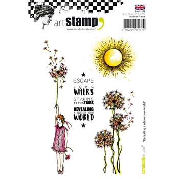 Carabelle Studio REVEALING A WHOLE NEW WORLD Cling Stamp SA60317E