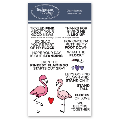 Technique Tuesday FLOYD AND FRANNIE FLAMINGO Clear Stamps 02522 Preview Image