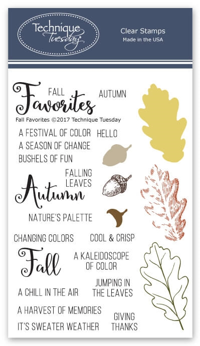 Technique Tuesday FALL FAVORITES Clear Stamps 02565 zoom image
