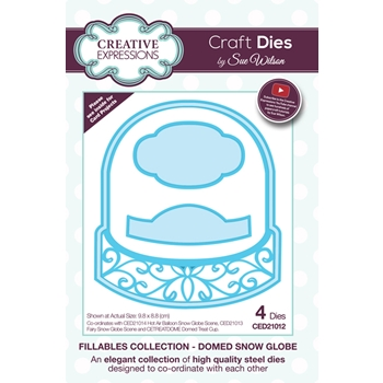 Creative Expressions DOMED SNOW GLOBE Sue Wilson Fillables Collection Die Set CED21012