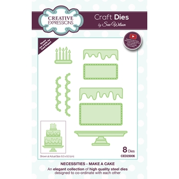 Creative Expressions MAKE A CAKE Sue Wilson Necessities Collection Die Set CED23006