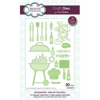 Creative Expressions KING OF THE GRILL Sue Wilson Necessities Collection Die Set CED23010
