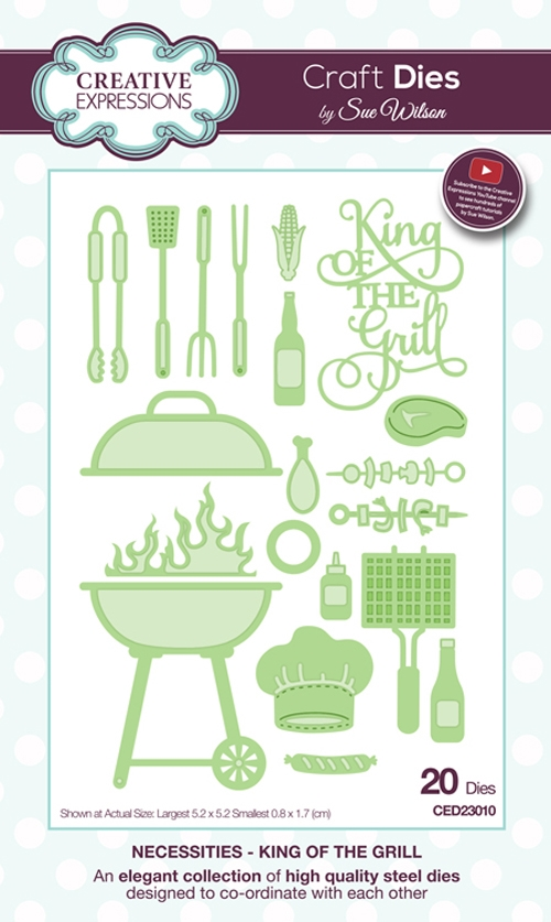 Creative Expressions KING OF THE GRILL Sue Wilson Necessities Collection Die Set CED23010 zoom image