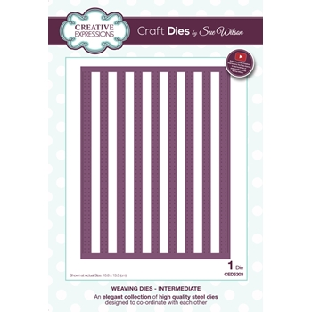 Creative Expressions WEAVING Sue Wilson Intermediate Collection Die Set CED5303