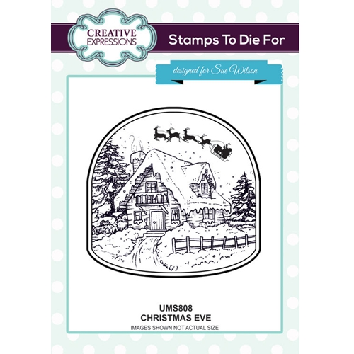 Creative Expressions CHRISTMAS EVE Sue Wilson Cling Stamps To Die For Collection UMS808 Preview Image