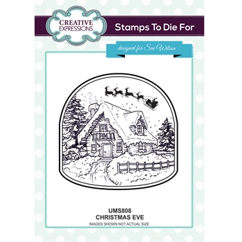 Creative Expressions CHRISTMAS EVE Sue Wilson Cling Stamps To Die For Collection UMS808
