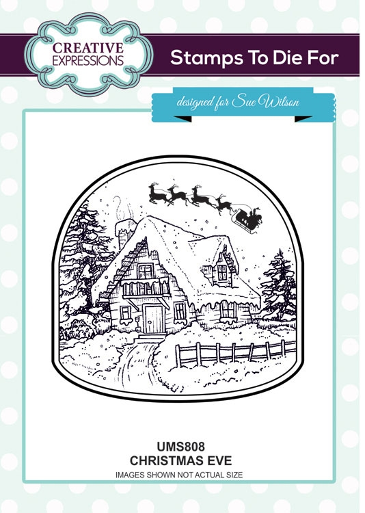 Creative Expressions CHRISTMAS EVE Sue Wilson Cling Stamps To Die For Collection UMS808 zoom image