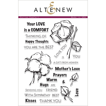 Altenew COTTON COMFORT Clear Stamp Set ALT1873