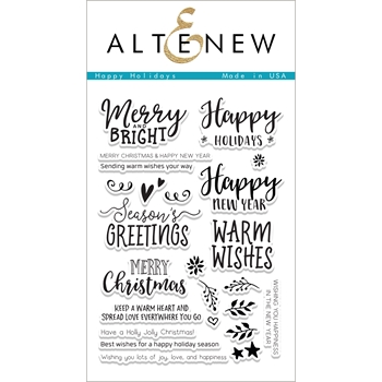 Altenew HAPPY HOLIDAYS Clear Stamp Set ALT1875