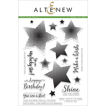 Altenew HALFTONE STARS Clear Stamp Set ALT1874