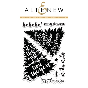 Altenew NIGHT BEFORE CHRISTMAS Clear Stamp Set ALT1881