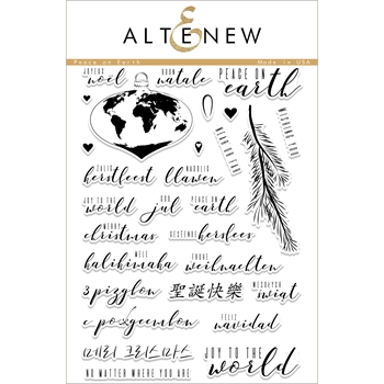 Altenew PEACE ON EARTH Clear Stamp Set ALT1883