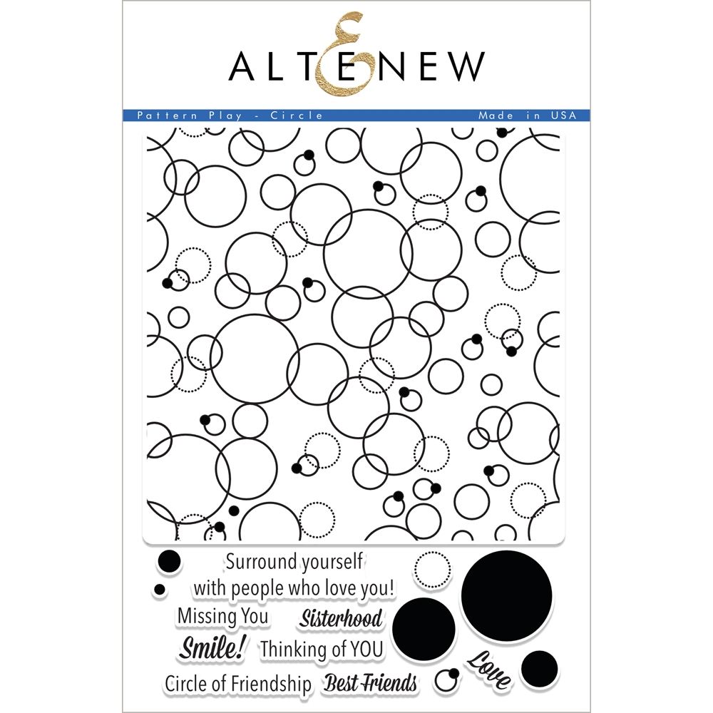 Altenew PATTERN PLAY CIRCLE Clear Stamp Set ALT1882 zoom image