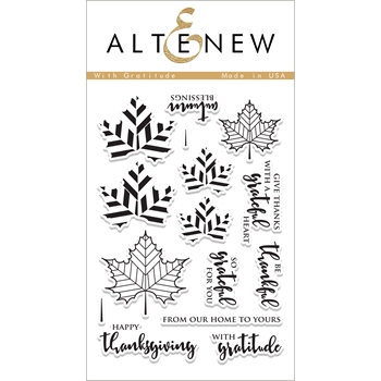 Altenew WITH GRATITUDE Clear Stamp Set ALT1885