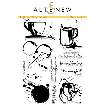 Altenew COFFEE WITH A SPLASH Clear Stamp Set ALT1872