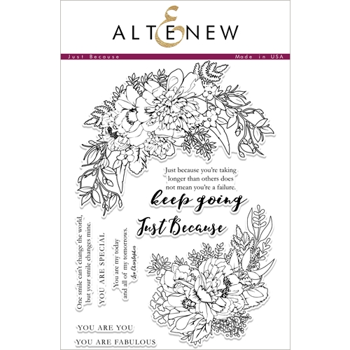 Altenew JUST BECAUSE Clear Stamp Set ALT1876