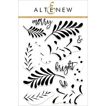Altenew MAJESTIC MISTLETOE Clear Stamp Set ALT1879