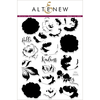 Altenew WINTER ROSE Clear Stamp Set ALT1884