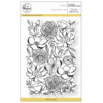 Pinkfresh Studio FLORAL BACKGROUND Clear Stamp Set PFCS2917