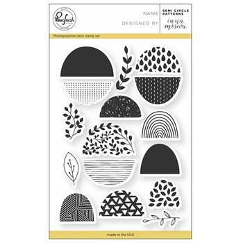 Pinkfresh Studio SEMI CIRCLE PATTERN Clear Stamp Set PFCS3017