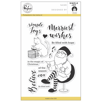 Pinkfresh Studio SIMPLE JOY Clear Stamp Set PFCS3717