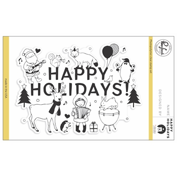 Pinkfresh Studio HAPPY HOLIDAYS Clear Stamp Set PFCS3817
