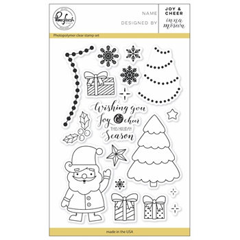 Pinkfresh Studio JOY AND CHEER Clear Stamp Set PFCS3917