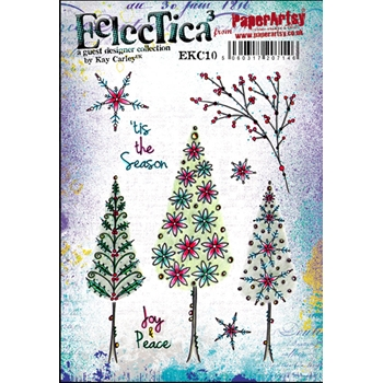 Paper Artsy ECLECTICA3 KAY CARLEY 10 Rubber Cling Stamp EKC10