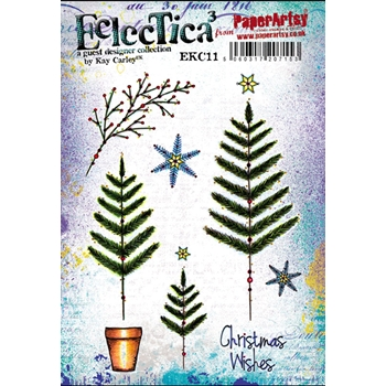 Paper Artsy ECLECTICA3 KAY CARLEY 11 Rubber Cling Stamp EKC11