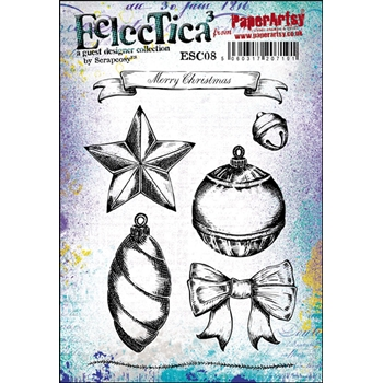 Paper Artsy ECLECTICA3 SCRAPCOSY 08 Rubber Cling Stamp ESC08