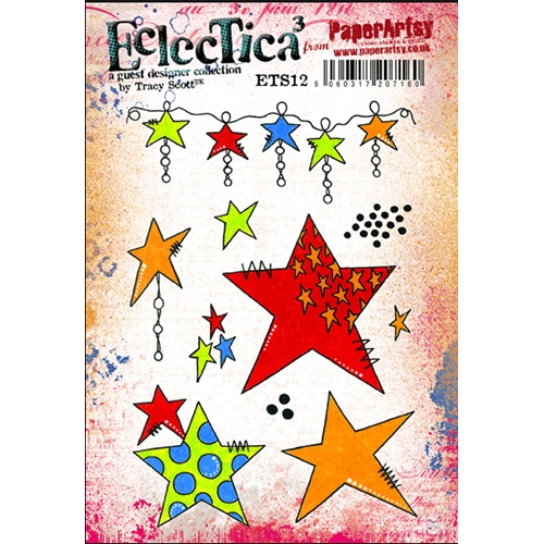 Paper Artsy ECLECTICA3 TRACY SCOTT 12 Rubber Cling Stamp ETS12  Preview Image