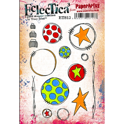 Paper Artsy ECLECTICA3 TRACY SCOTT 13 Rubber Cling Stamp ETS13 Preview Image