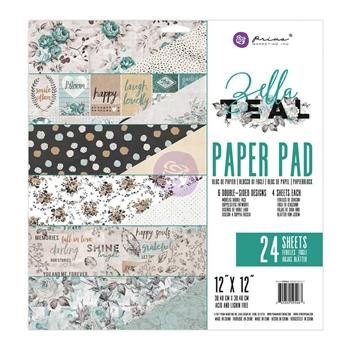 Prima Marketing ZELLA TEAL 12 x 12 Collection Kit 595463*