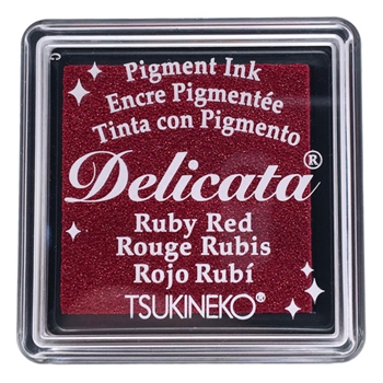 Tsukineko Delicata SMALL RUBY RED Ink Pad DESML325