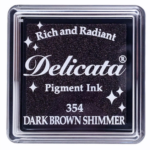 Tsukineko Delicata SMALL DARK BROWN SHIMMER Ink Pad DESML354 Preview Image