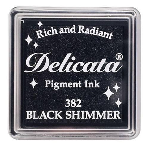 Tsukineko Delicata SMALL BLACK SHIMMER Ink Pad DESML382 Preview Image