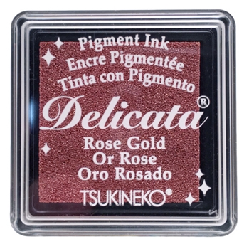 Tsukineko Delicata SMALL ROSE GOLD Ink Pad DESML357