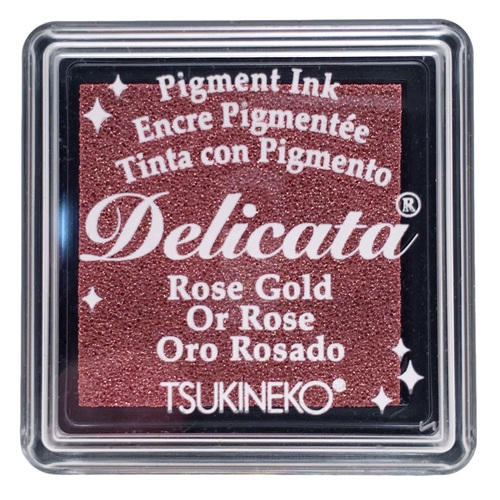 Tsukineko Delicata SMALL ROSE GOLD Ink Pad DESML357 zoom image
